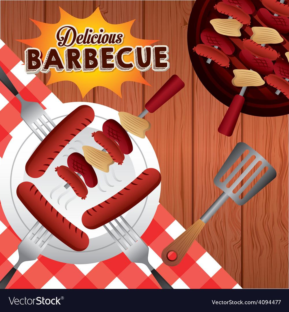 Barbecue food vector | Price: 1 Credit (USD $1)