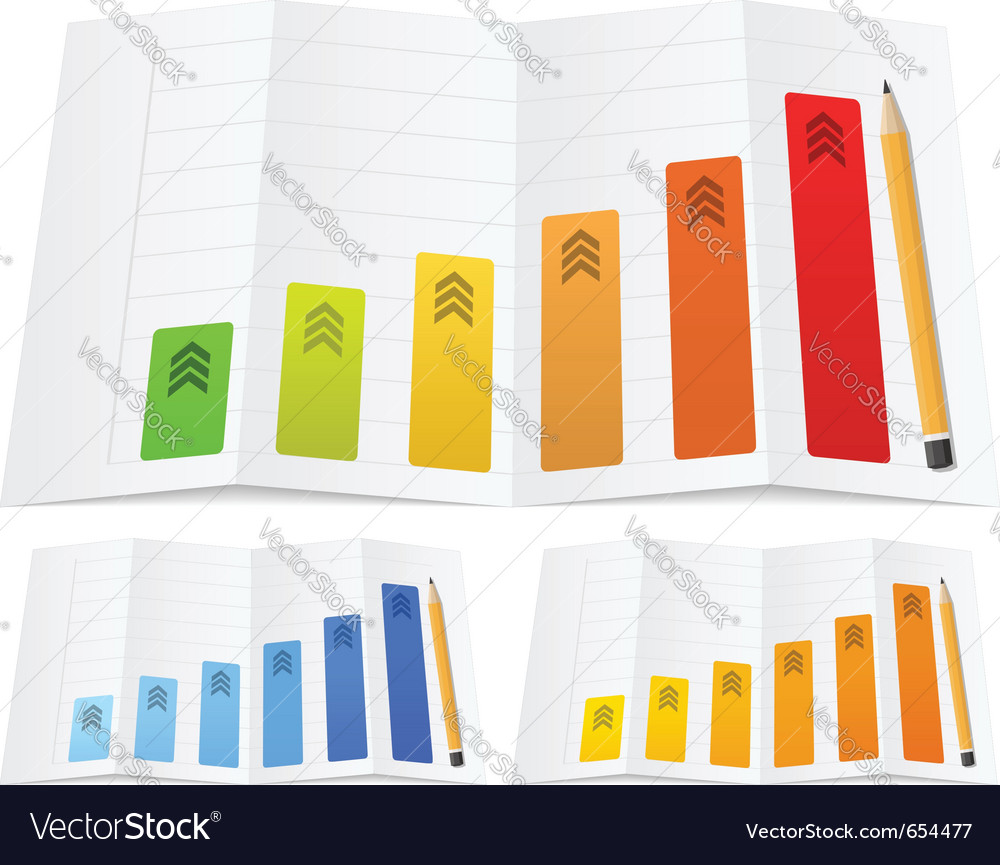 Business graph vector | Price: 1 Credit (USD $1)