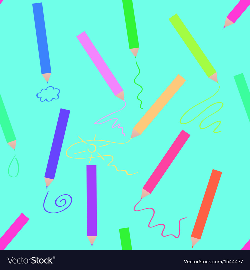 Crayons seamless vector | Price: 1 Credit (USD $1)