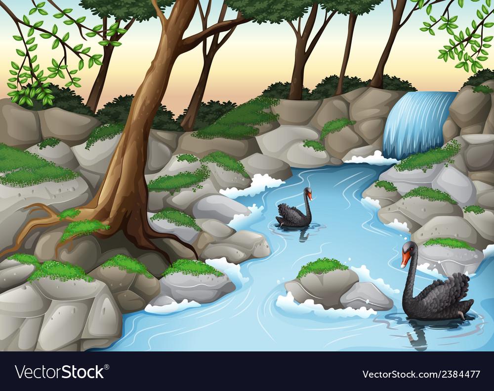 Detailed cartoon background vector