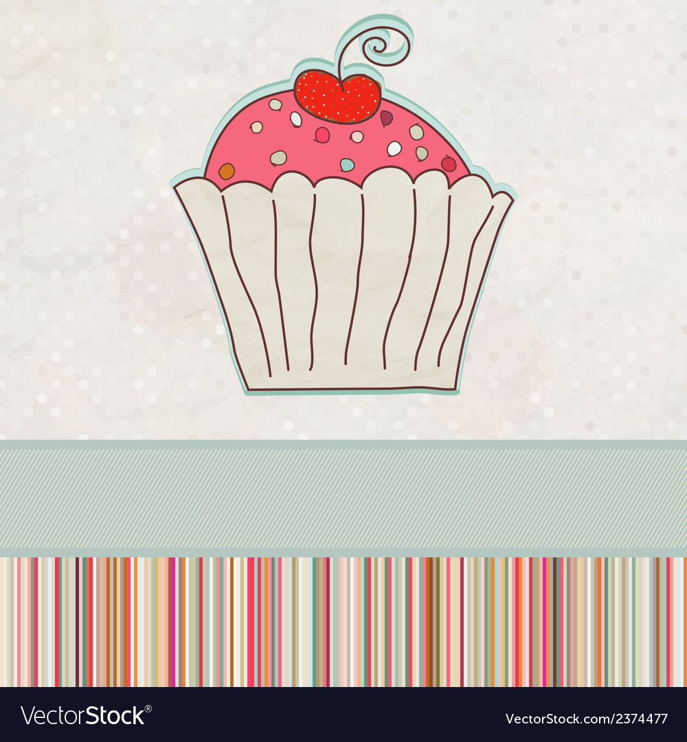 First birthday card eps 8 vector | Price: 1 Credit (USD $1)