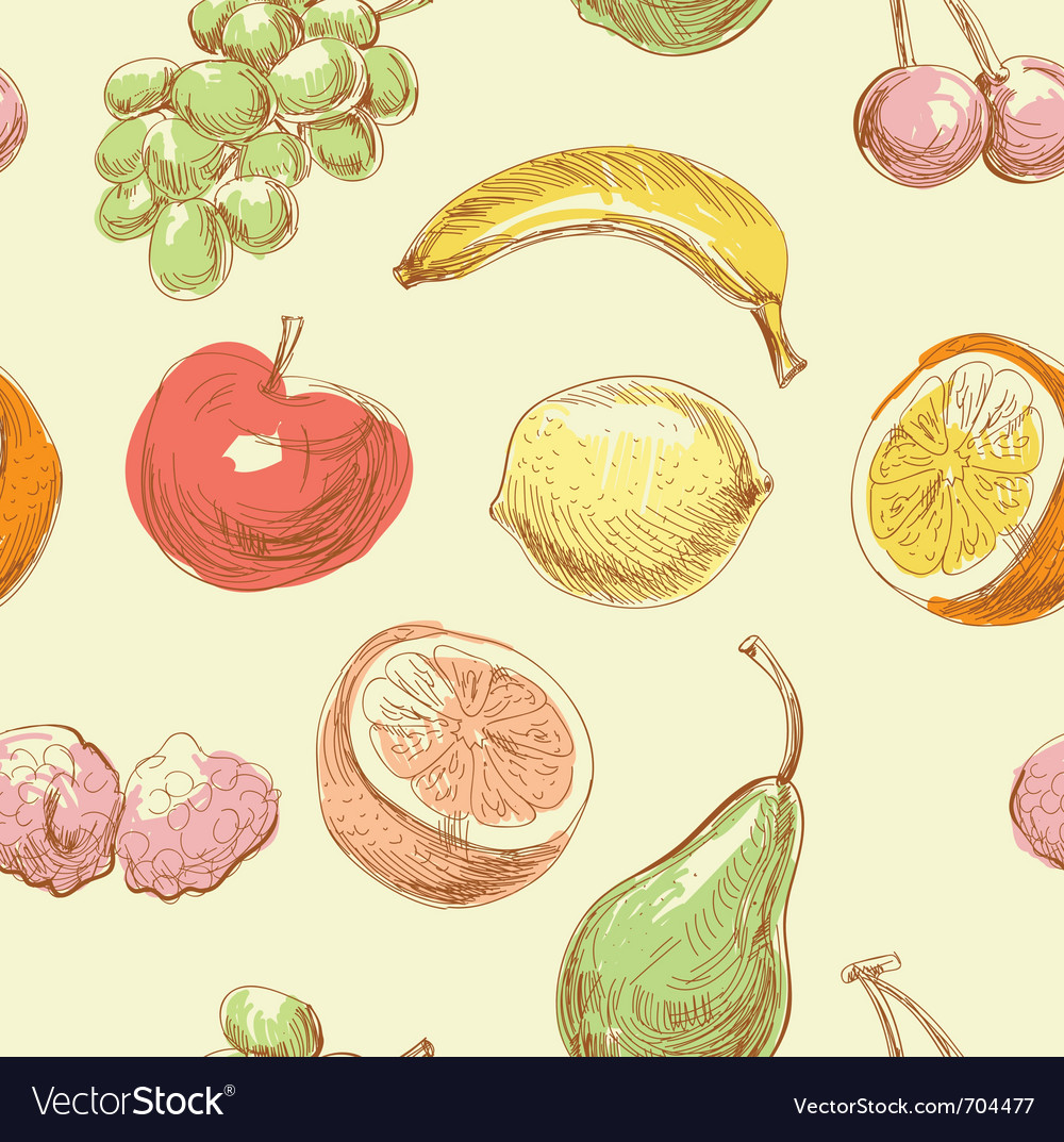 Hand drawn fruits vector   Price: 1 Credit (USD $1)