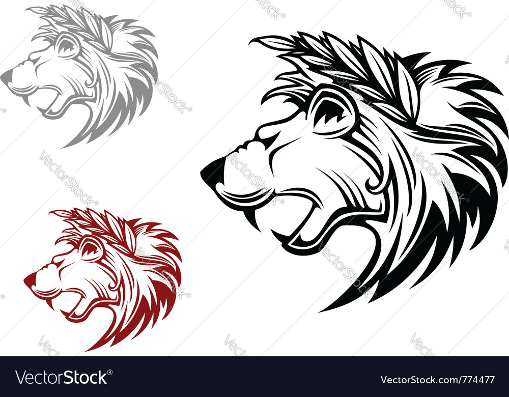 Heraldic lion vector | Price: 1 Credit (USD $1)