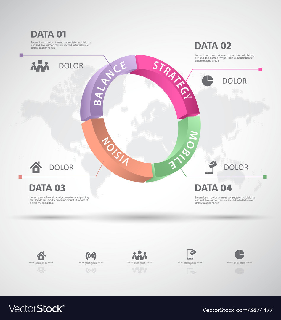 Infographic 3d data vector   Price: 1 Credit (USD $1)
