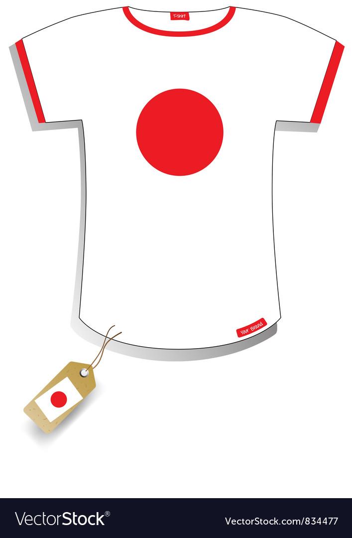 Japan t-shirt vector | Price: 1 Credit (USD $1)