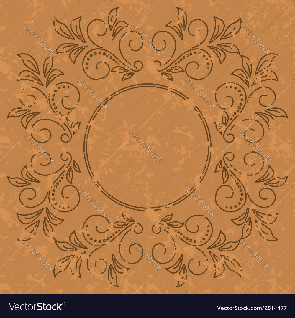 Old pattern - dark vintage background vector | Price: 1 Credit (USD $1)