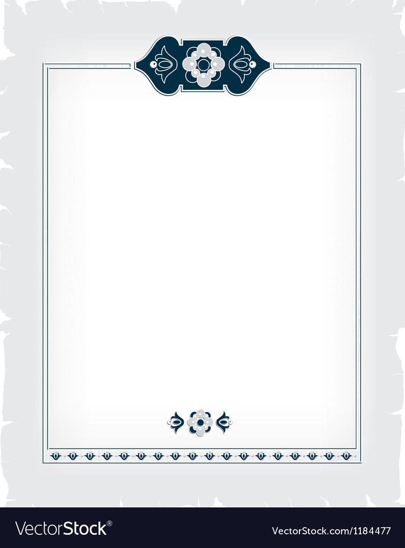 Ornamental decorative frame vector   Price: 1 Credit (USD $1)