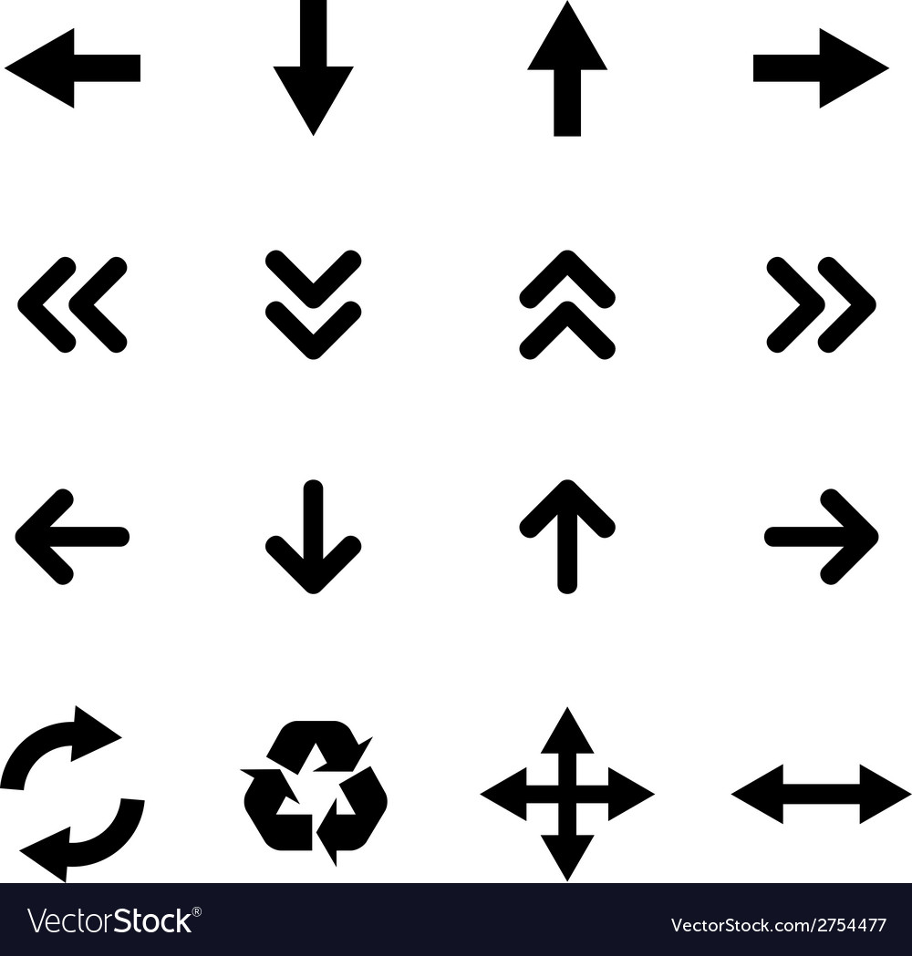 Set of flat icons - arrows vector | Price: 1 Credit (USD $1)