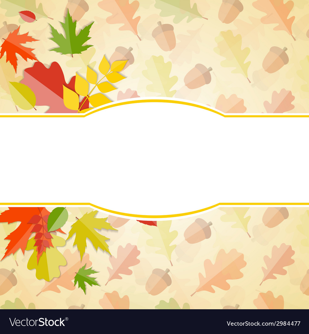 Shiny autumn natural leaves background vector   Price: 1 Credit (USD $1)