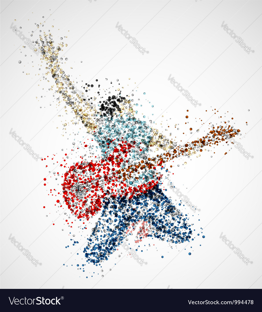 Abstract guitarist vector | Price: 1 Credit (USD $1)