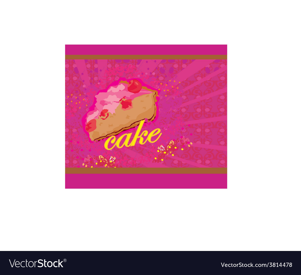 Cake abstract card vector | Price: 1 Credit (USD $1)