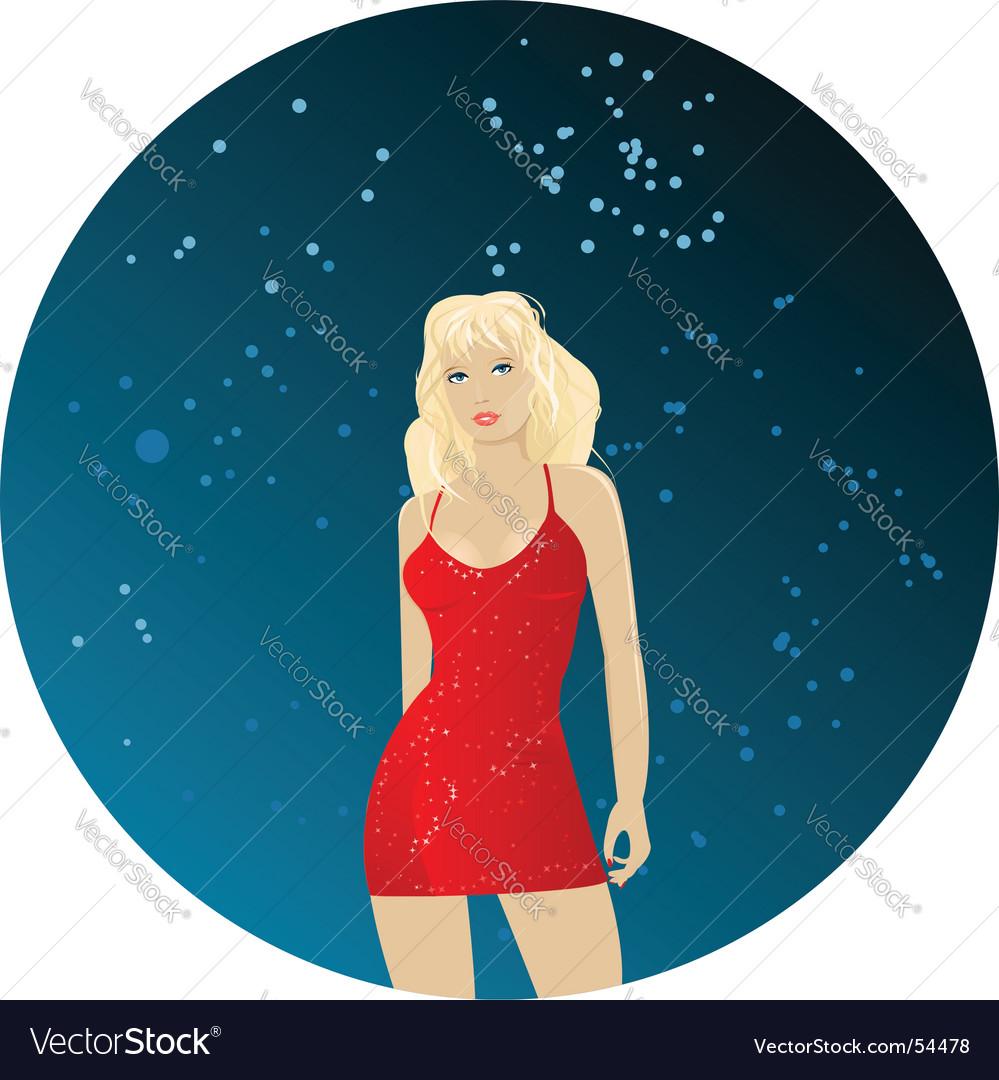 Dancing girl vector | Price: 3 Credit (USD $3)