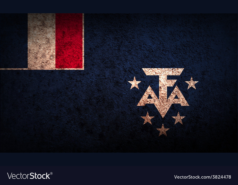 Flag of french southern and antarctic lands with vector | Price: 1 Credit (USD $1)