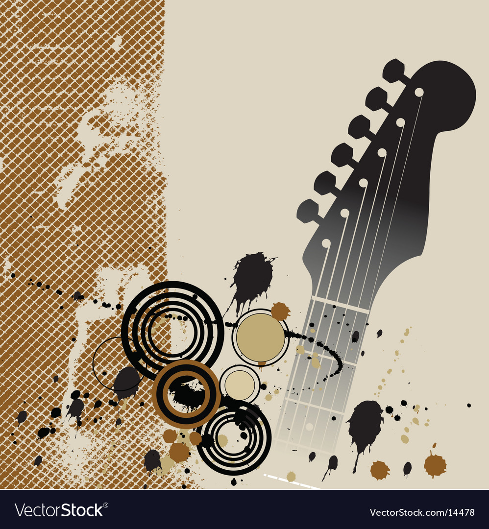 Grunge guitar vector | Price: 1 Credit (USD $1)