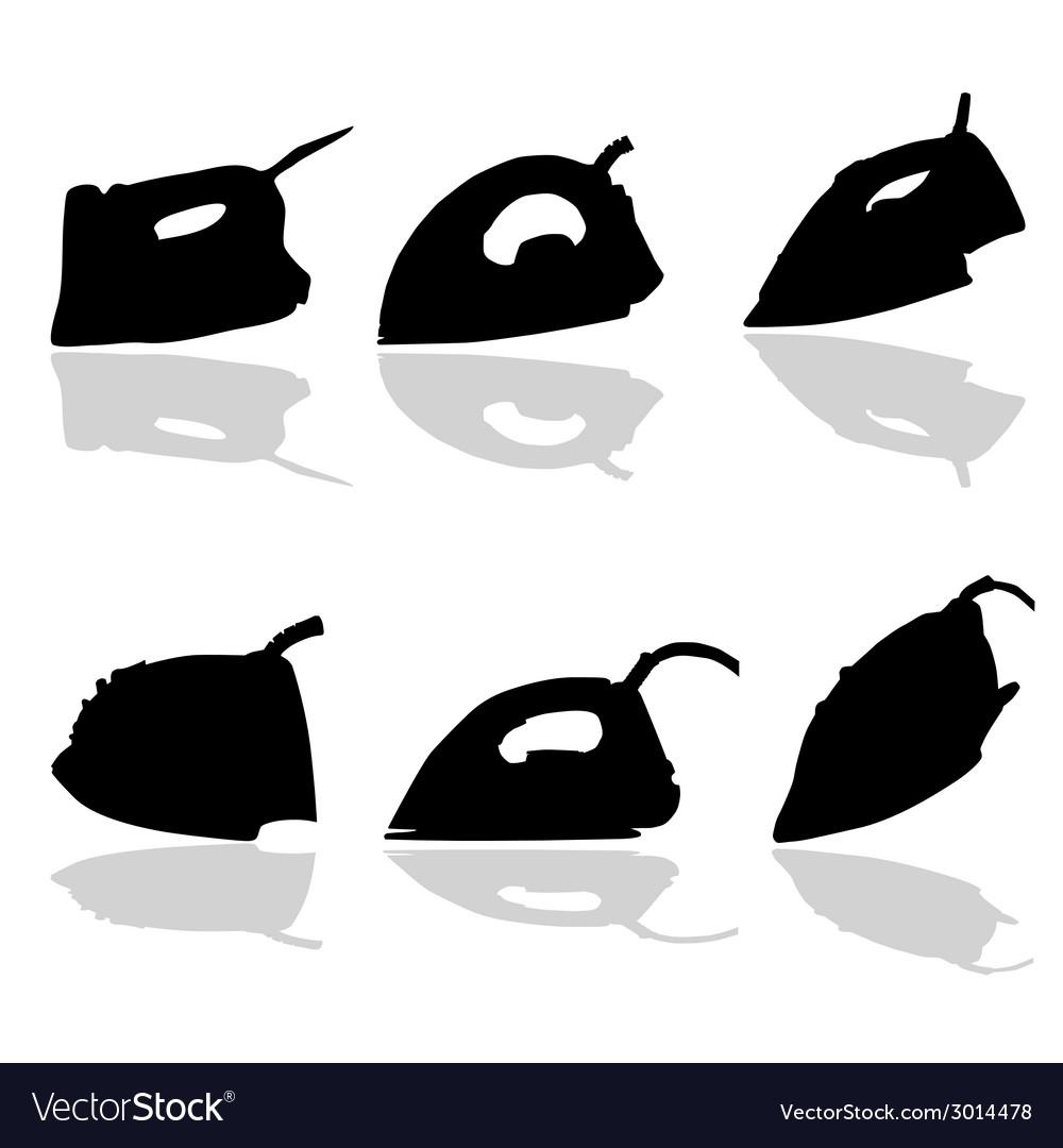 Iron black silhouette vector | Price: 1 Credit (USD $1)