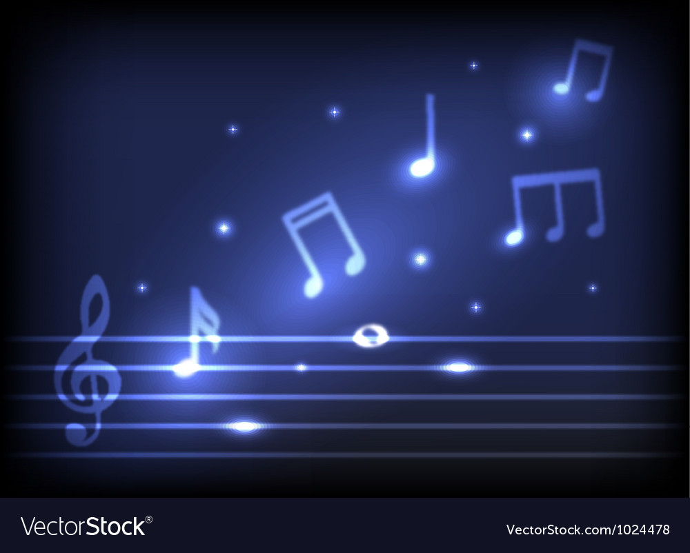 Magic music notes vector | Price: 1 Credit (USD $1)