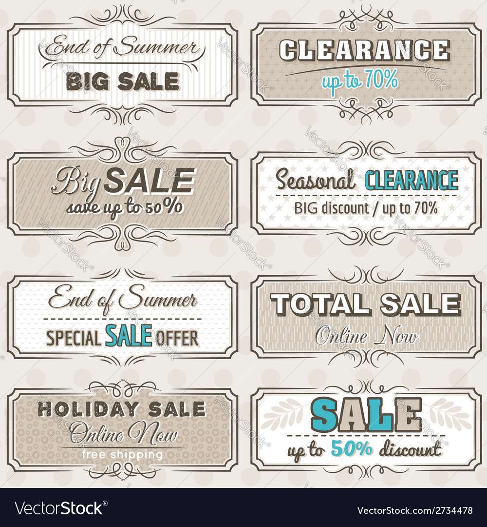 Set of special sale offer labels and banners vector | Price: 1 Credit (USD $1)