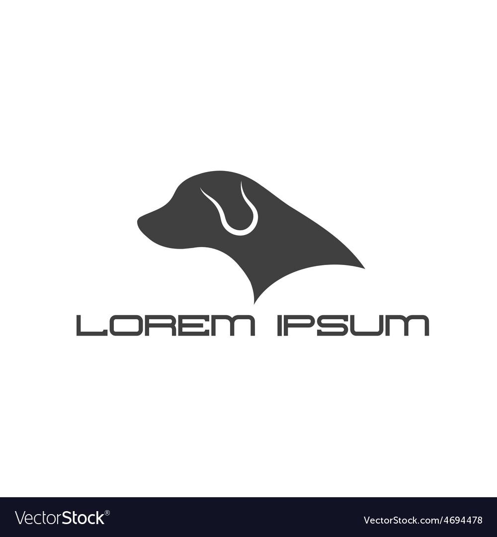 Silhouette of labrador dog head vector | Price: 1 Credit (USD $1)