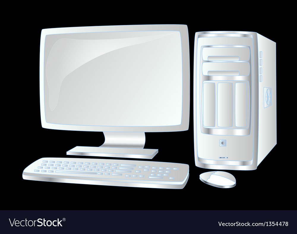 White computer vector | Price: 1 Credit (USD $1)