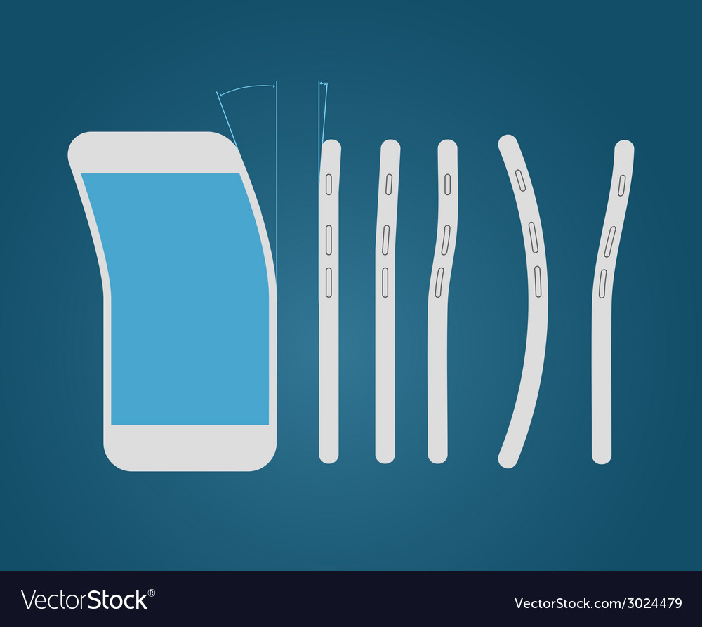 Bending modern smartphone vector | Price: 1 Credit (USD $1)
