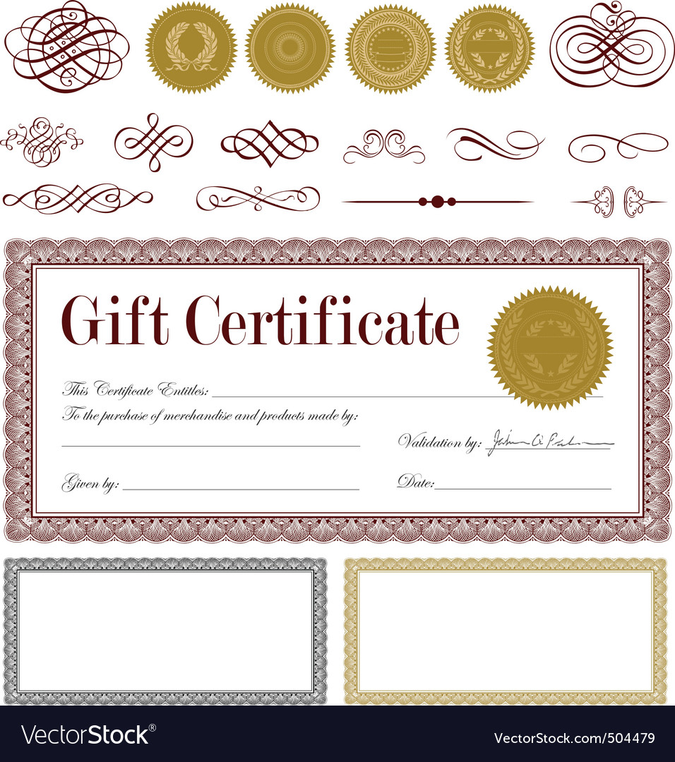 burgundy certificate frame set vector | Price: 1 Credit (USD $1)