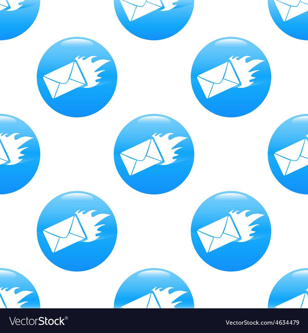 Burning envelope sign pattern vector | Price: 1 Credit (USD $1)