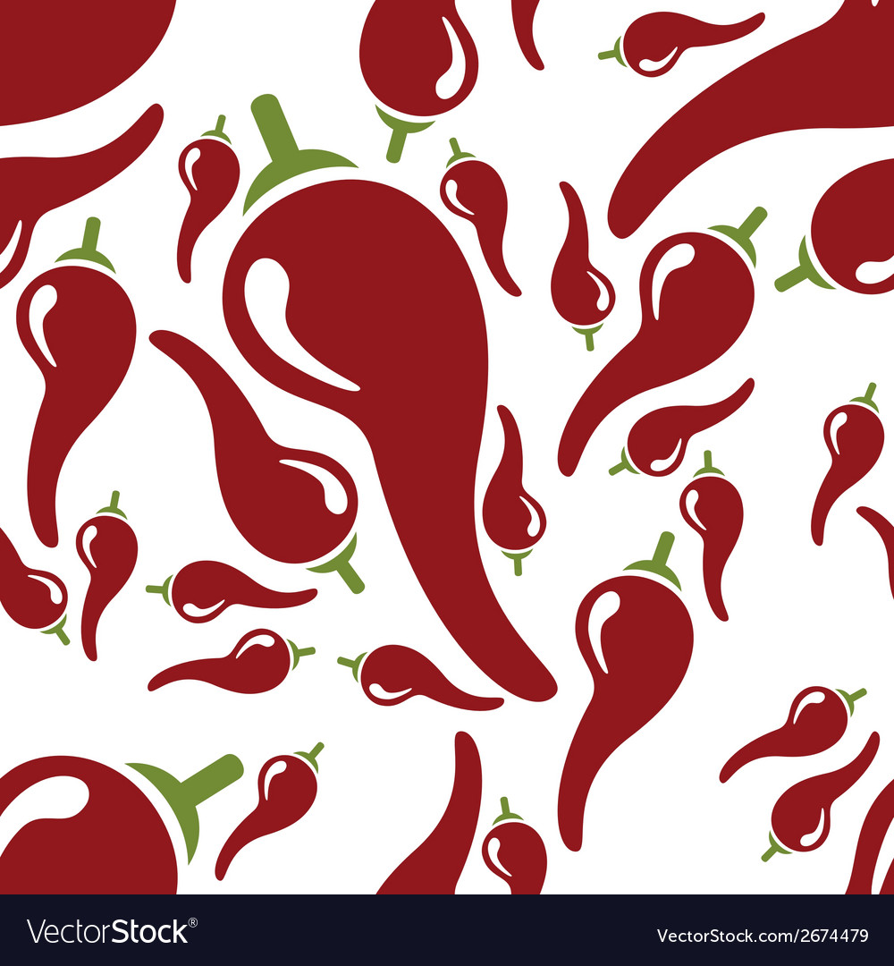 Chilli seamless pattern vector | Price: 1 Credit (USD $1)