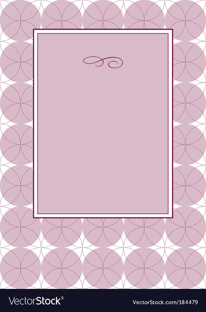 Circle pattern and frame vector | Price: 1 Credit (USD $1)
