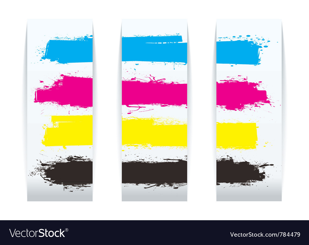 Four colour paper banner vector | Price: 1 Credit (USD $1)