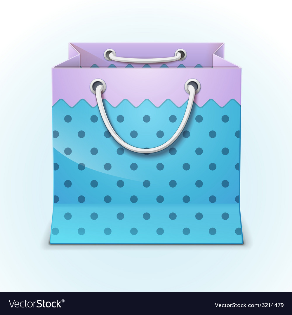 Gift shopping bag vector | Price: 1 Credit (USD $1)