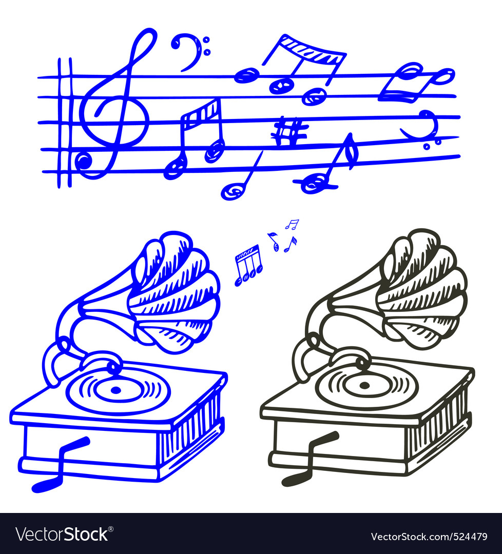 Music doodle vector | Price: 1 Credit (USD $1)