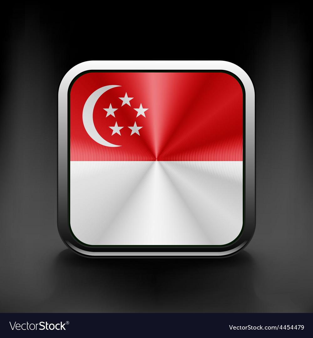 Original and simple republic of singapore flag vector | Price: 1 Credit (USD $1)