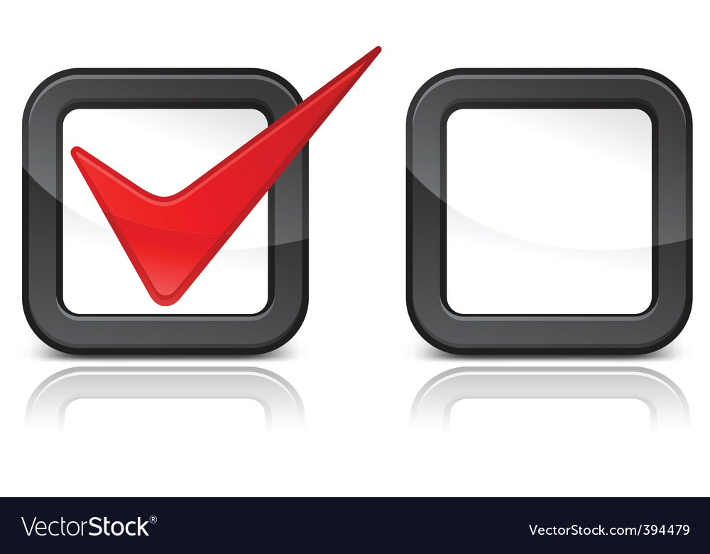 Red checkmark vector