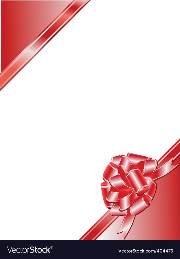 Ribbon bow frame vector   Price: 1 Credit (USD $1)