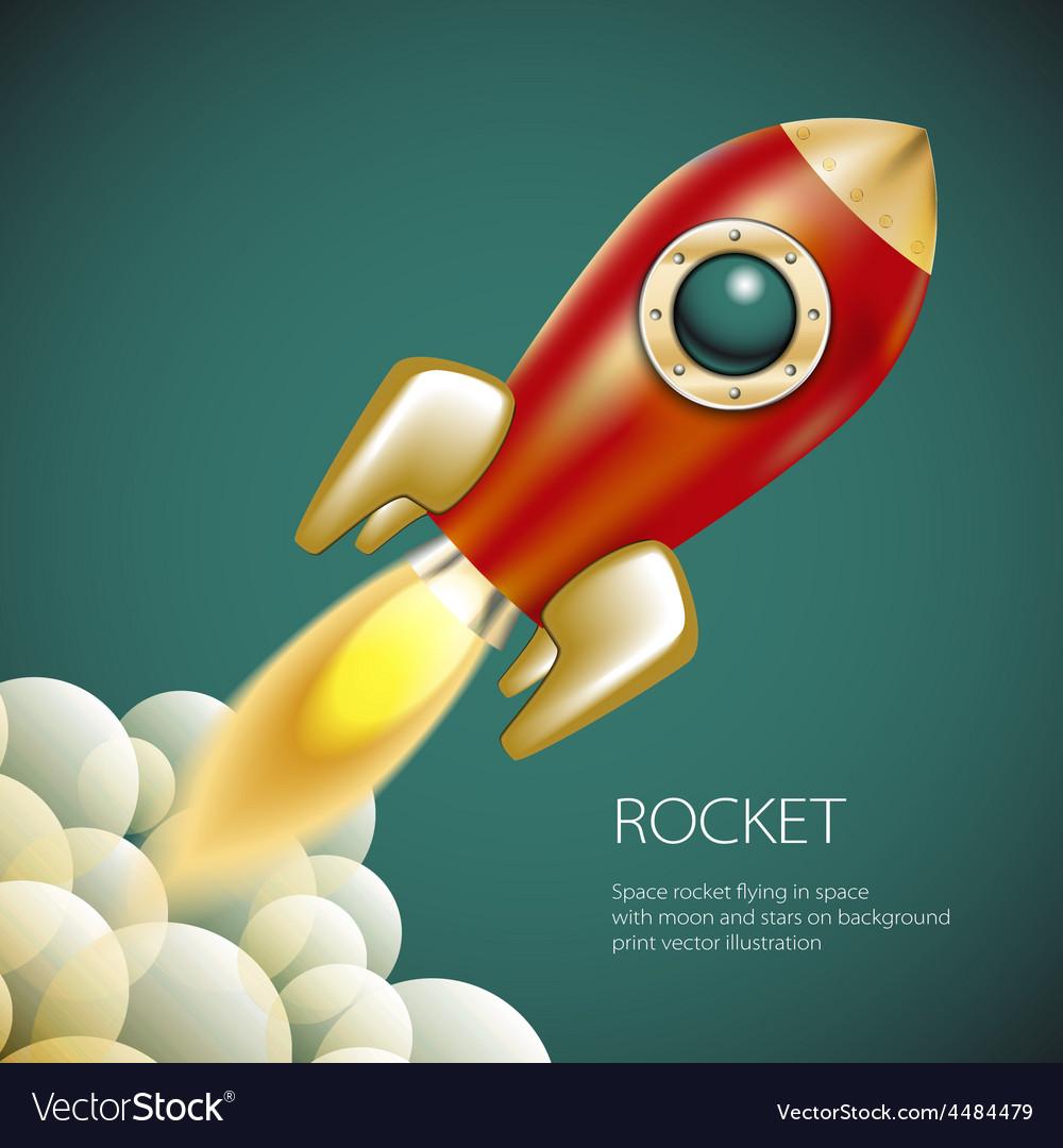 Rocket icon space fire symbol flame cartoon vector | Price: 1 Credit (USD $1)