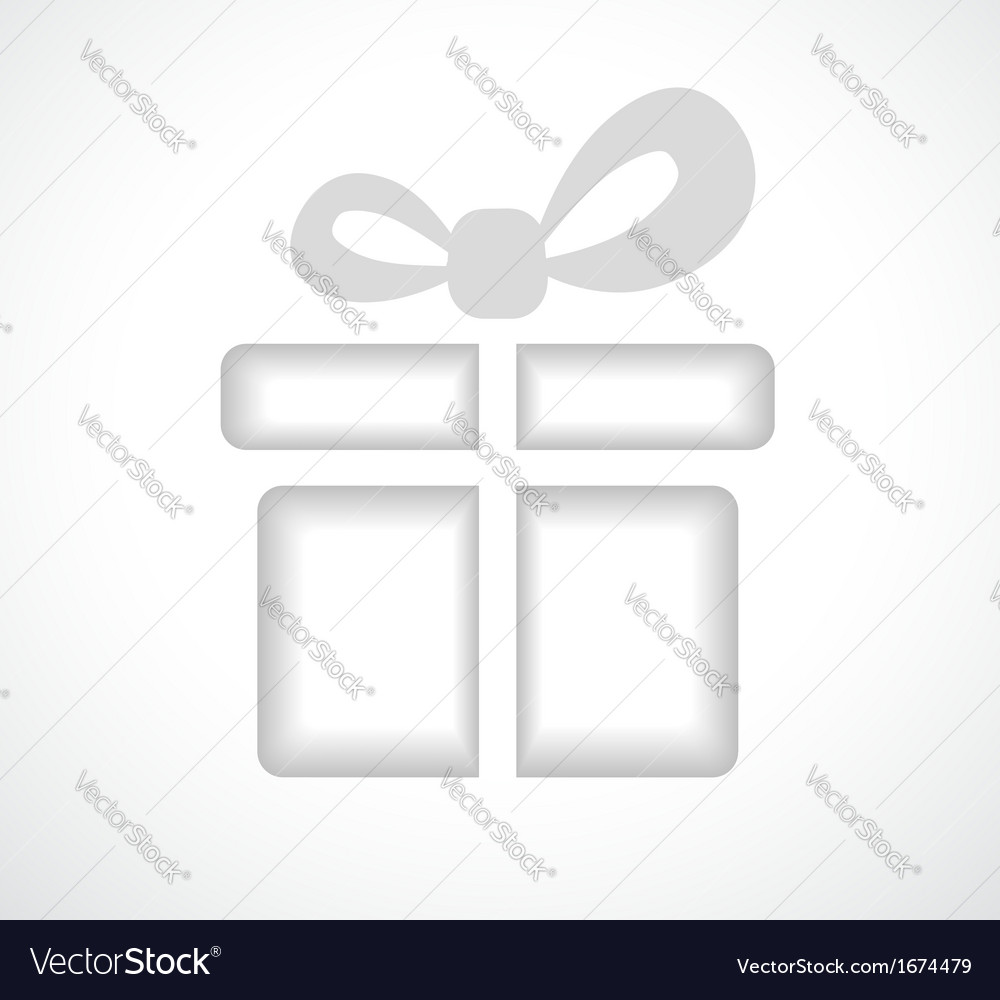 Silhouette of a gift box with a bow vector | Price: 1 Credit (USD $1)