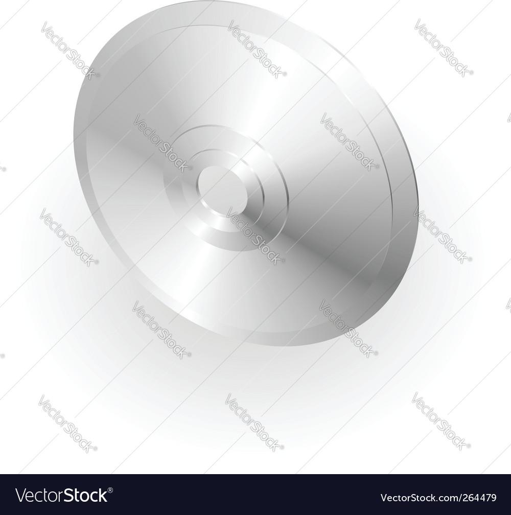 Silver metallic cd or dvd vector