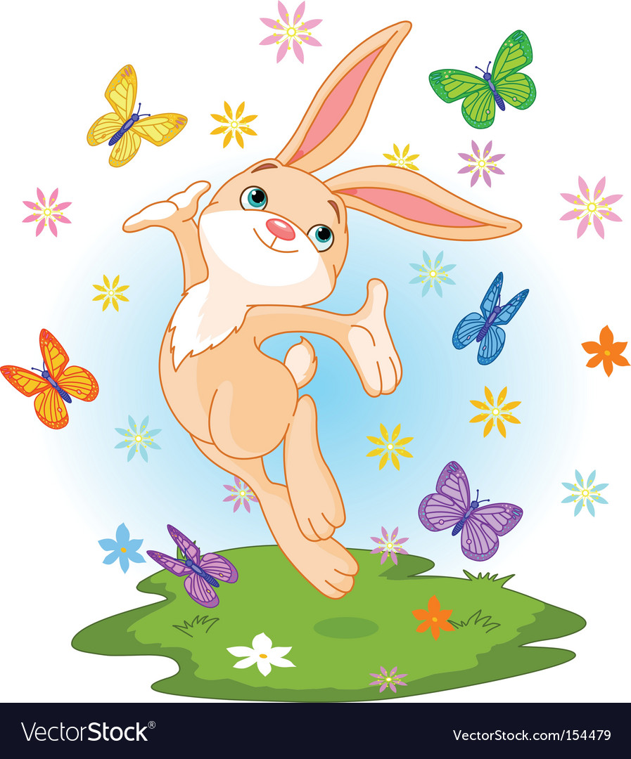 Spring bunny vector | Price: 1 Credit (USD $1)
