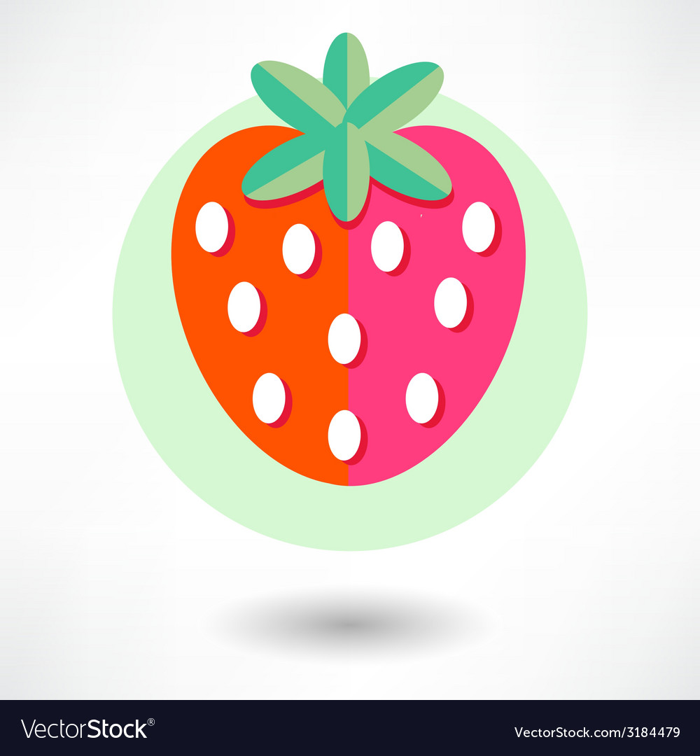 Strawberry icon vector | Price: 1 Credit (USD $1)