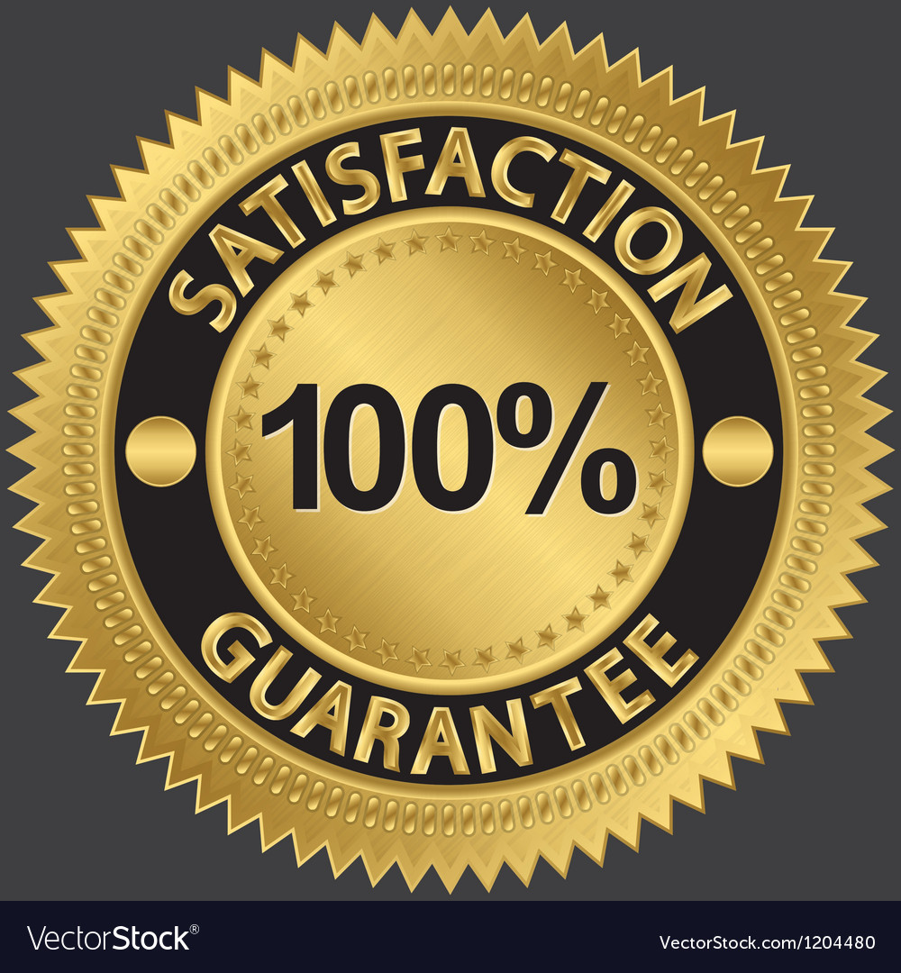100 percent satisfaction guarantee vector | Price: 1 Credit (USD $1)