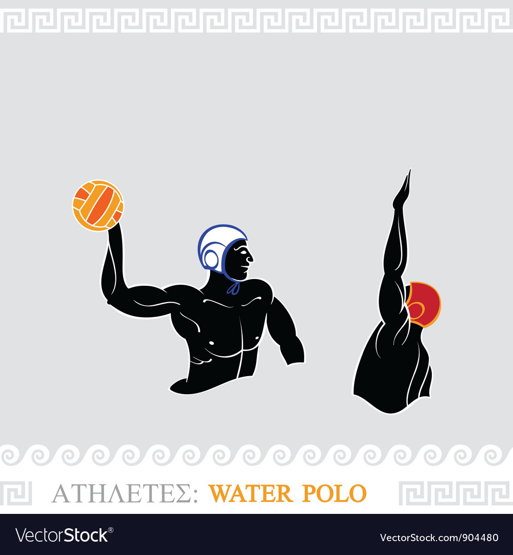 Athlete water polo players vector | Price: 3 Credit (USD $3)