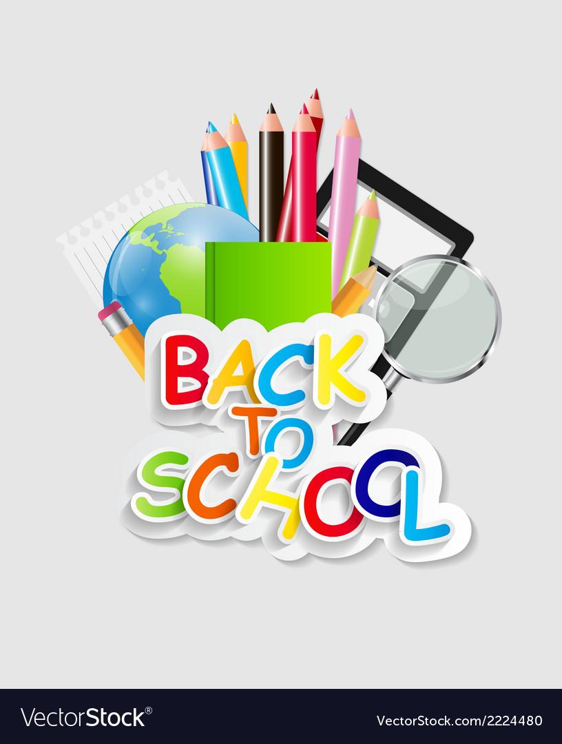 Back to school concept vector | Price: 1 Credit (USD $1)