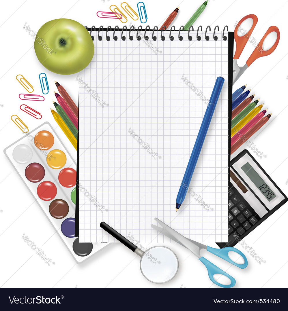 Back to school notepad vector | Price: 3 Credit (USD $3)