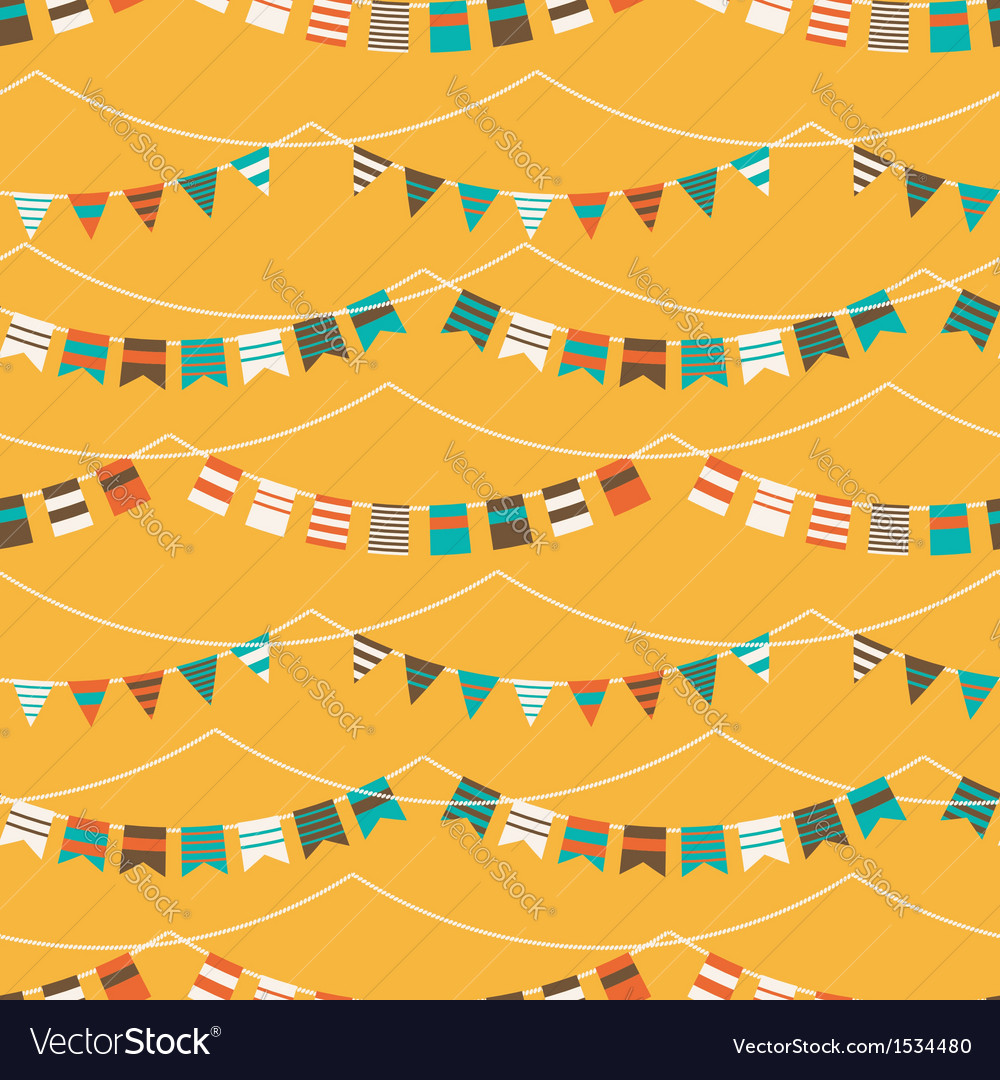 Colorful pattern with bunting and garland vector | Price: 1 Credit (USD $1)