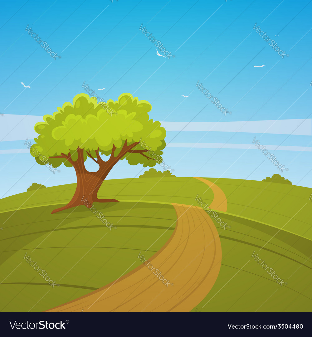 Country road vector | Price: 3 Credit (USD $3)
