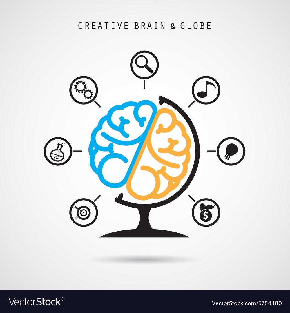 Creative brain abstract logo design vector | Price: 1 Credit (USD $1)