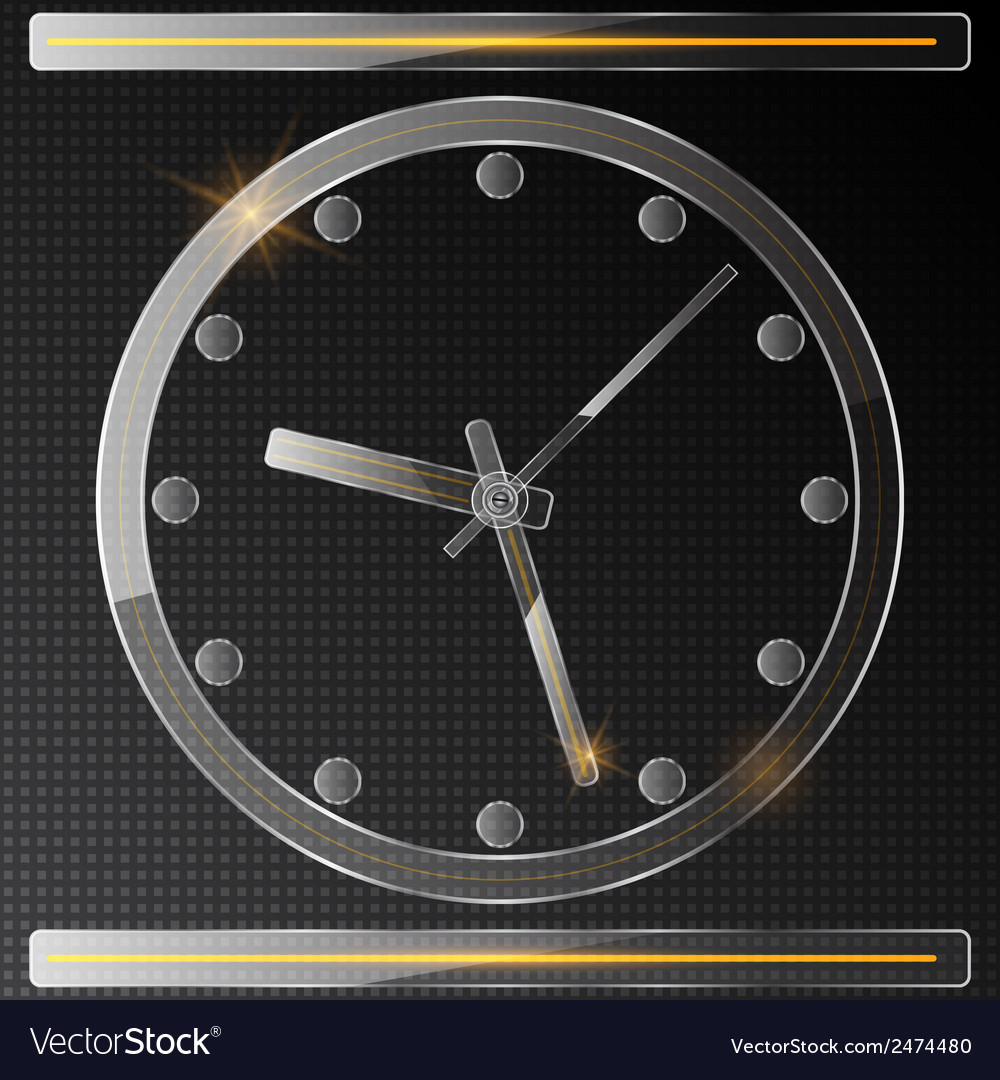Glass clock vector | Price: 1 Credit (USD $1)
