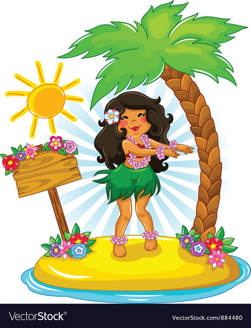 Hula girl vector | Price: 3 Credit (USD $3)