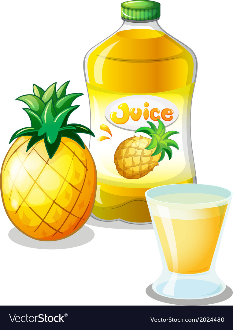 Pineapple juice drink vector | Price: 1 Credit (USD $1)