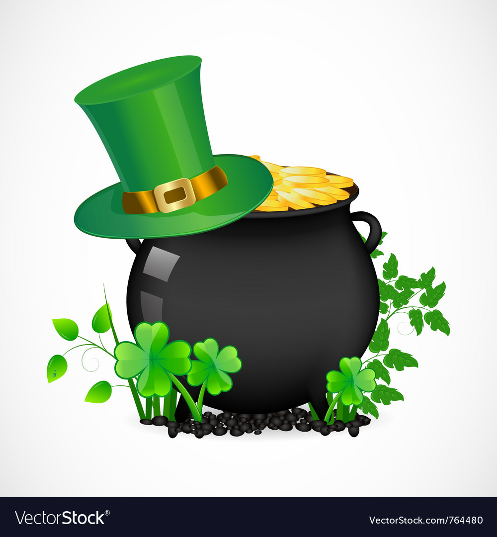 Pot with gold vector | Price: 1 Credit (USD $1)